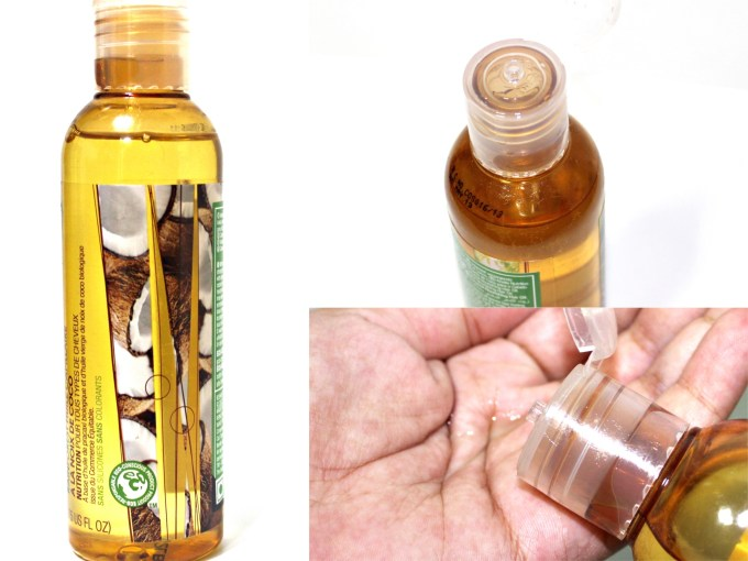 The Body Shop Rainforest Coconut Hair Oil Review Swatches