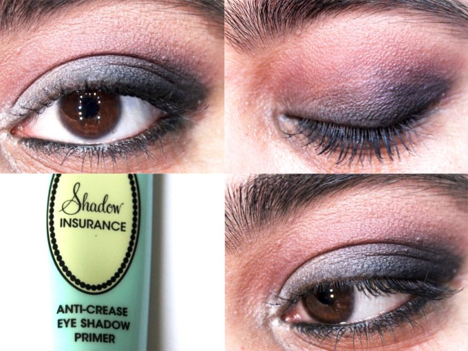 Too Faced Shadow Insurance Eyeshadow Primer Review, Swatches, Demo MBF Blog Eye Makeup Look