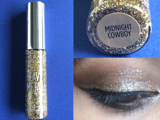 Urban Decay Heavy Metal Glitter Eyeliner Midnight Cowboy Review, Swatches