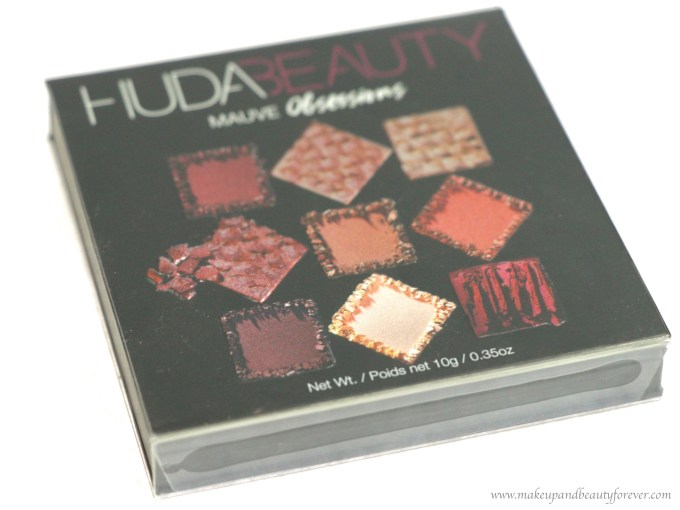 Huda Beauty Mauve Obsessions Eyeshadow Palette Review, Swatches with Plastic slip