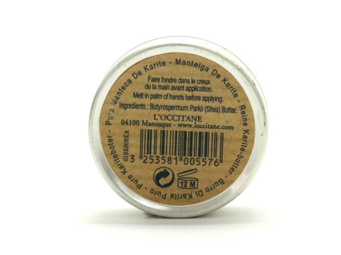 L'Occitane Pure Shea Butter Review Details