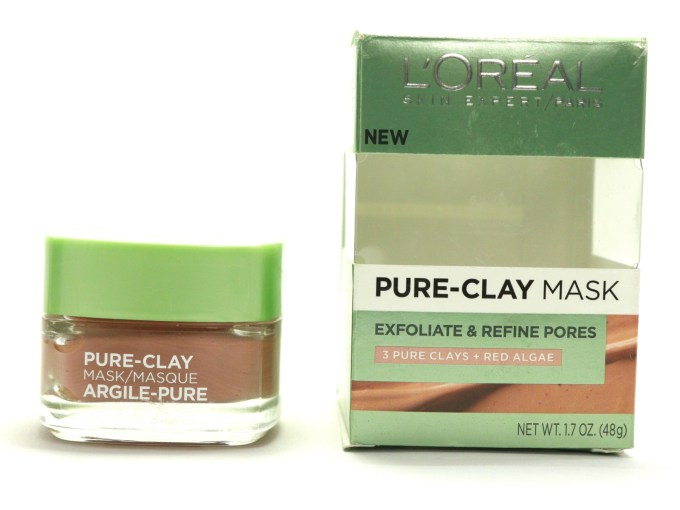 L'Oreal Exfoliate & Refine Pores Clay Mask Review, Swatches