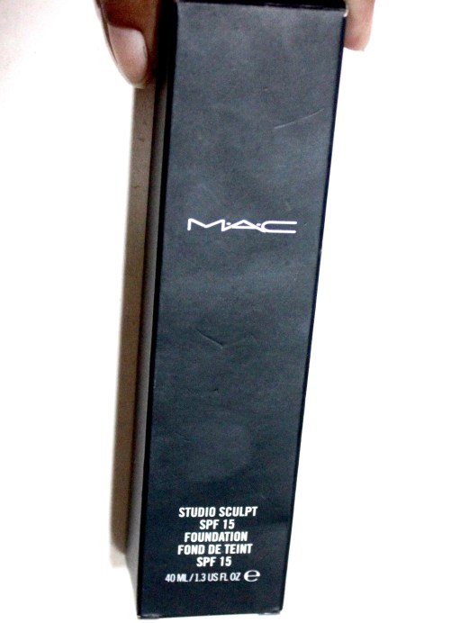 MAC Studio Sculpt Foundation SPF 15 Review, Swatches front