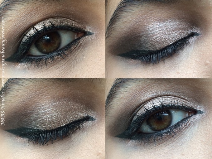 NARS Himalia Dual Intensity Eyeshadow Review, Swatches MBF Night Eye Makeup