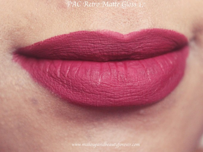 PAC Retro Matte Gloss 17 Review, Swatches MBF