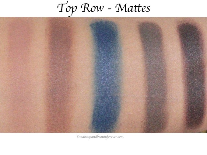 Sugar Blend The Rules Eyeshadow Palette Firework 02 Review, Swatches Top Row Mattes