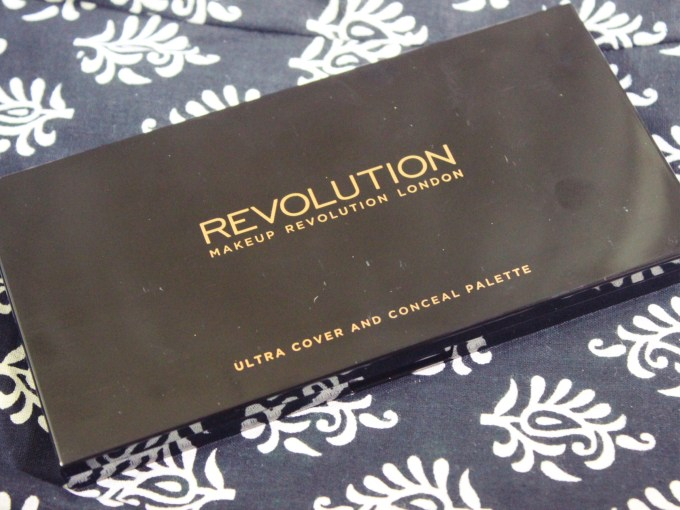 Makeup Revolution Ultra Cover and Conceal Palette Review, Swatches front