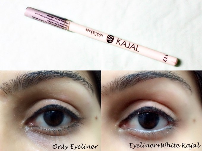 Deborah Milano 117 White Kajal Eye Pencil Review, Swatches