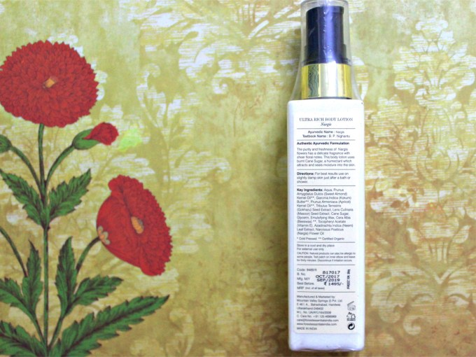 Forest Essentials Ultra Rich Body Lotion Nargis Review Details