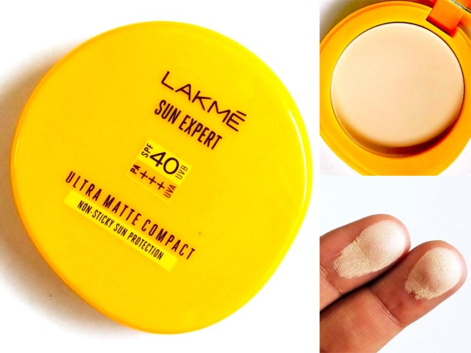 Lakme Sun Expert Ultra Matte SPF 40 Pa+++ Compact Review, Swatches