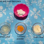 turmeric curd face pack