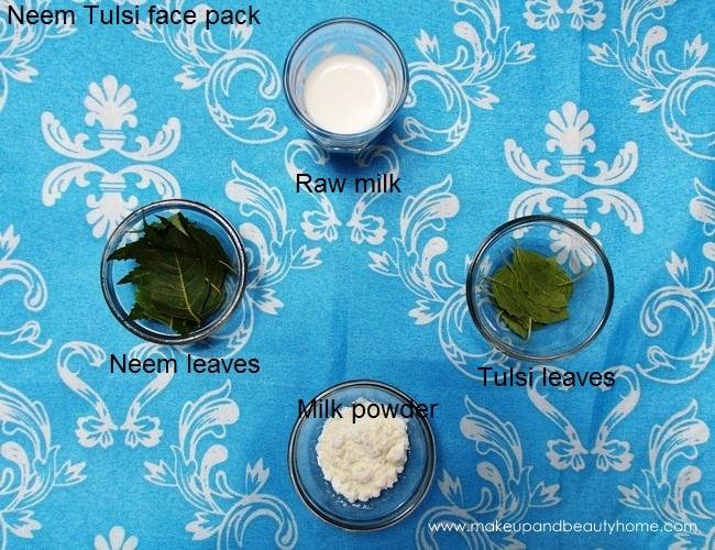 neem tulsi face pack