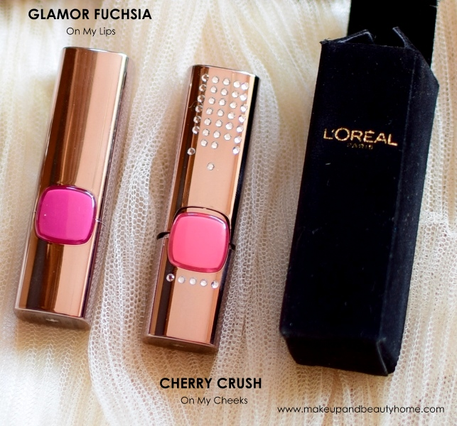 glamor fuchsia, cherry crush lipsticks