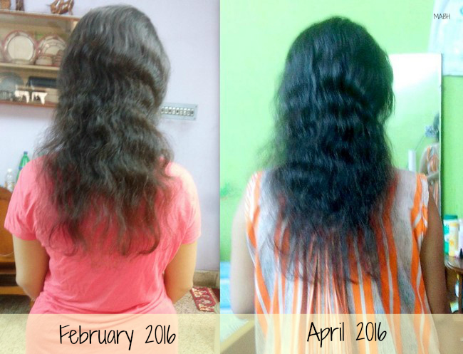 My Hair Before and After Using MABH Hair Oil