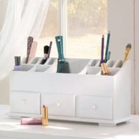 1 X Vanity n Beauty Organizer with Drawers & Storage in White
