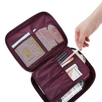 Wastar® Floral Print Cosmetic Makeup Organizer Bag Toiletry Travel Kit with Large Storage Space