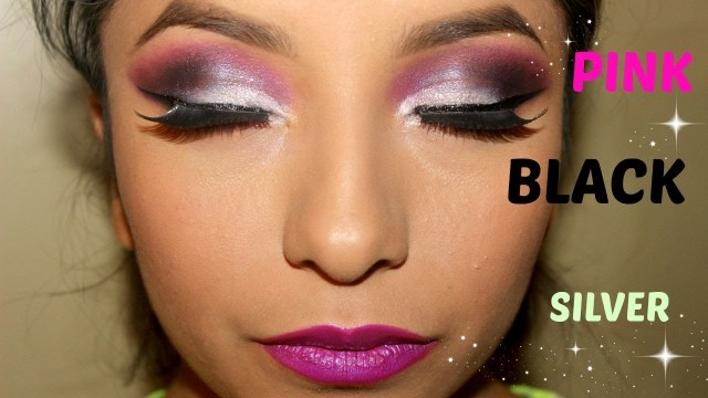 Black And Silver Eye Makeup Pink Silver Black Makeup Tutorial Livmakeup Youtube