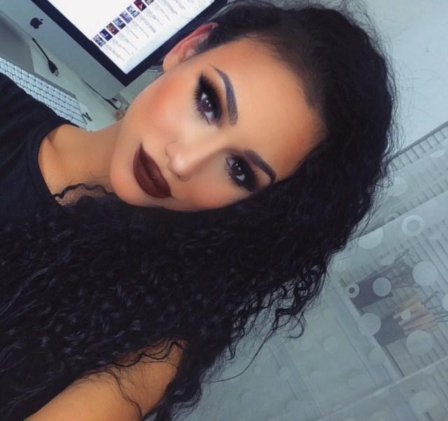 Black Smokey Eye Makeup Dramatic Black Smokey Eye Makeup Tutorial Brown Matte Lips Lets