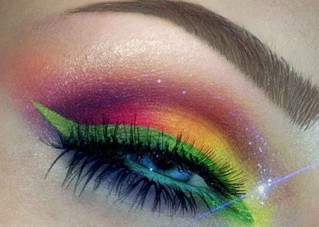 Bright Color Eye Makeup Bright Color Eyeshadow Mode Dion