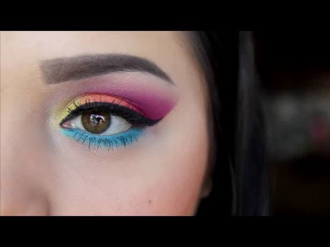 Bright Color Eye Makeup Bright Colorful Eyeshadow Look Youtube