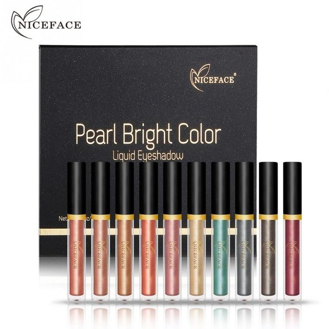 Bright Color Eye Makeup Niceface Eye Makeup Liquid Eyeliner Long Lasting Shiny Pear Bright