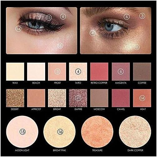 Bright Color Eye Makeup Qibest Bluerdream Focallure 18 Colors Pearlized Color Eyeshadow