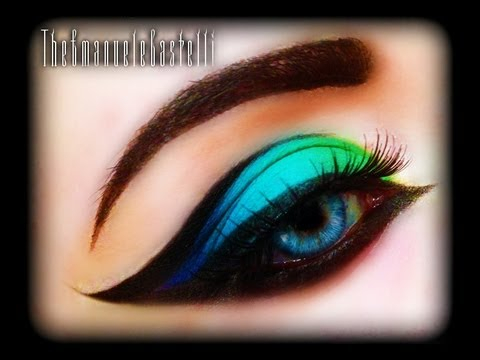 Bright Color Eye Makeup Spring Make Up Tutorial Exotic Sexy Colorful And Bright Cat Eye