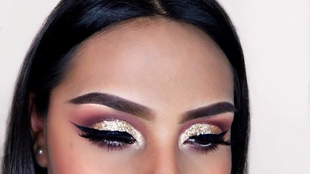Cut Crease Eye Makeup Glitter Cut Crease Eyeshadow Tutorial Youtube