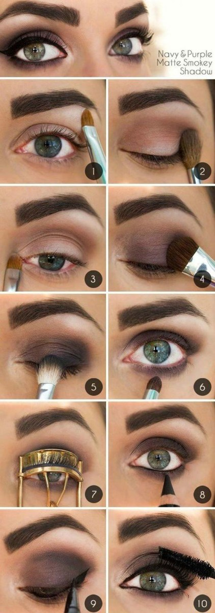 Dark Eyes Makeup 10 Step Step Makeup Tutorials For Green Eyes Her Style Code