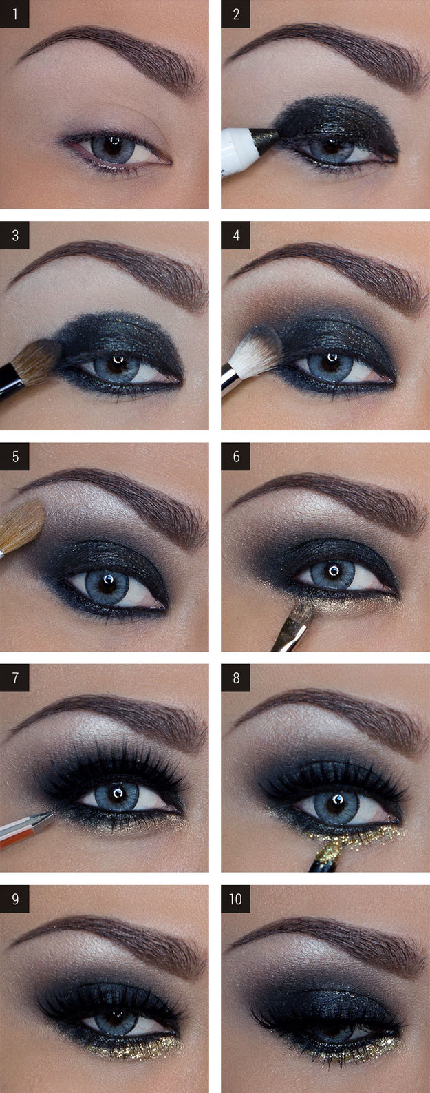 Easy Evening Eye Makeup 12 Easy Step Step Makeup Tutorials For Blue Eyes Her Style Code