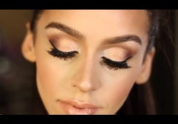 Eye Makeup For Beige Dress Gold Bronze Smokey Eye Makeup Tutorial Youtube