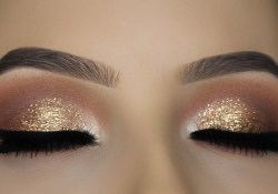 Eye Makeup Glitter Classic Brown Glitter Eye Makeup Tutorial Youtube