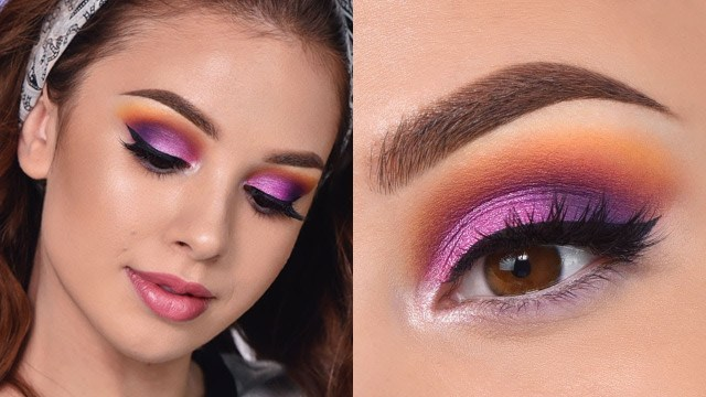 Eye Makeup Summer Fun Colorful Summer Makeup Tutorial Orange Purple And Pink
