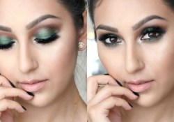 Green Makeup Brown Eyes Green Fall Makeup For Brown Eyes One Brand Tutorial Youtube