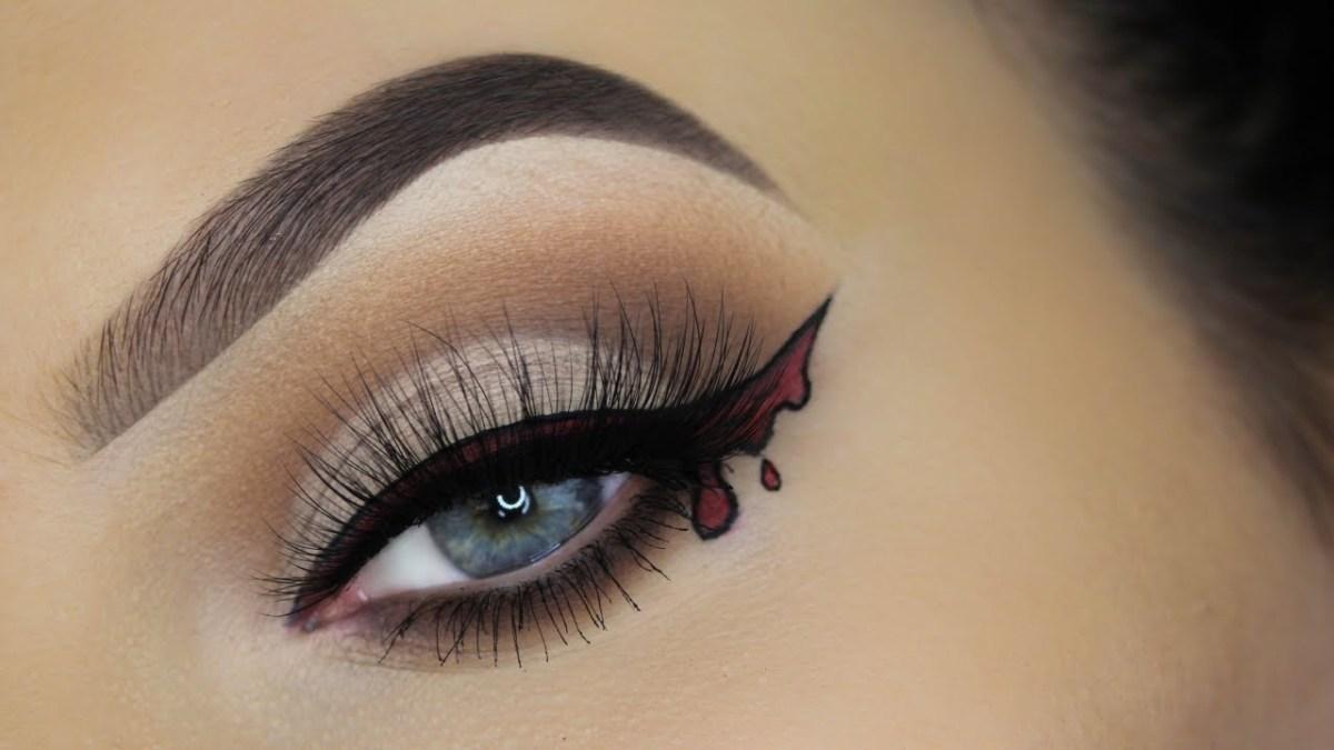 Halloween Eye Makeup Bloody Eyeliner Halloween Eye Makeup Tutorial Youtube