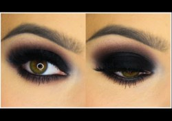 Heavy Dark Eye Makeup Classic Black Smokey Eye Tutorial Youtube