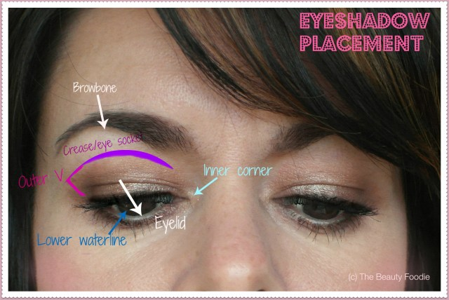 How To Apply Eye Makeup With Pictures Eyeshadow Placement Where Do I Apply It The Beauty Foodie