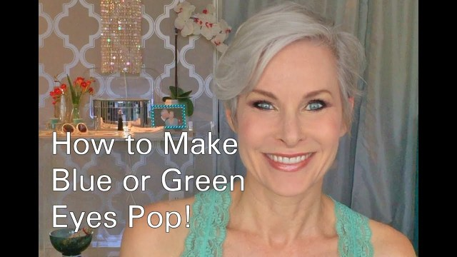 How To Do Makeup For Blonde Hair Blue Eyes How To Do Eye Makeup To Make Blue Or Green Eyes Pop Youtube