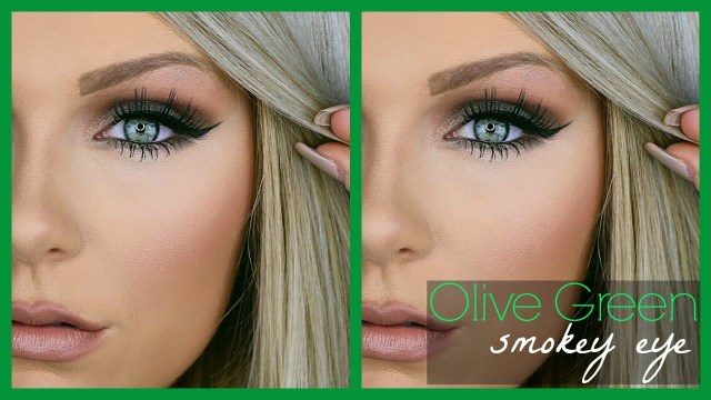 How To Do Makeup For Blonde Hair Blue Eyes Olive Green Smokey Eye Makeup Tutorial Youtube