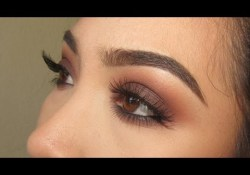 Light Brown Smokey Eye Makeup Warm Brown Smokey Eye Kat Von D Shade And Light Eye Palette Youtube