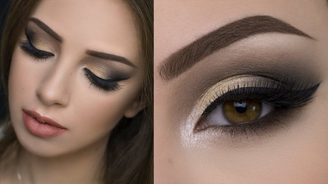 Makeup Smokey Eyes Soft Gold Smokey Eye Tutorial Youtube