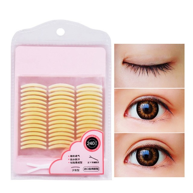 Makeup Tape Eyes 240 Pairs Makeup Clear Thick Eyelid Stripe Eyes Invisible Double