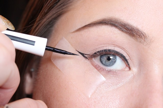 Makeup Tape Eyes The Sticky Trick For Perfect Winged Eyeliner British Beauty Addict