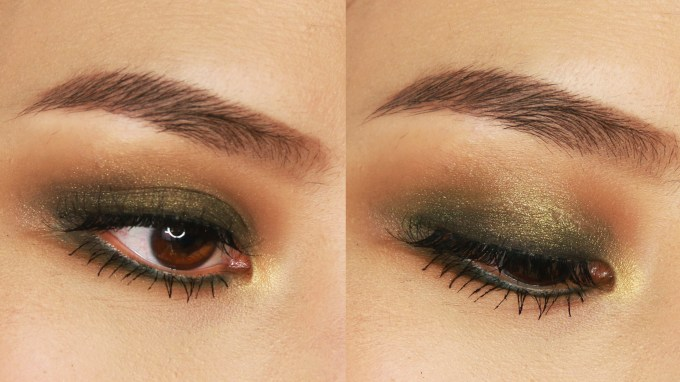natural eye makeup for green eyes 5 minute green smokey eye
