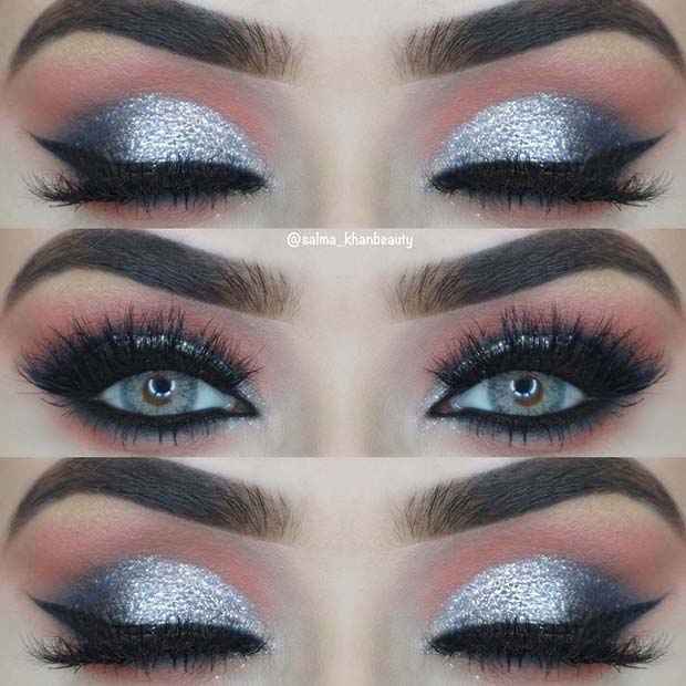 Pink And Silver Eye Makeup 43 Glitzy Nye Makeup Ideas Stayglam Page 4