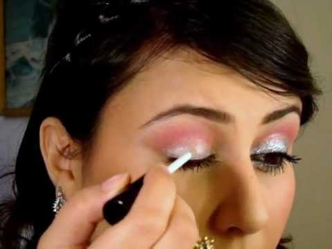 Pink And Silver Eye Makeup Pink And Silver Glitter Party Makeup Look Tutorial Youtube