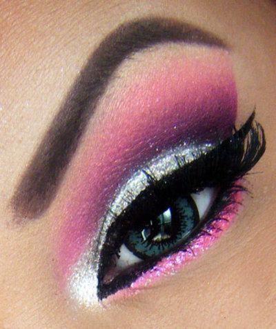 Pink And Silver Eye Makeup Pink Silver Eye Makeup Eyeliner Mascara And Eye Makeup In Flickr
