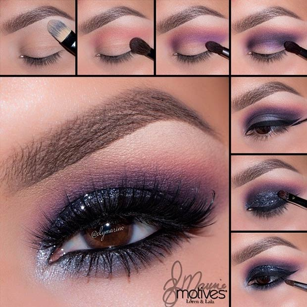 Purple And Gold Smokey Eye Makeup 21 Glamorous Smokey Eye Tutorials Stayglam