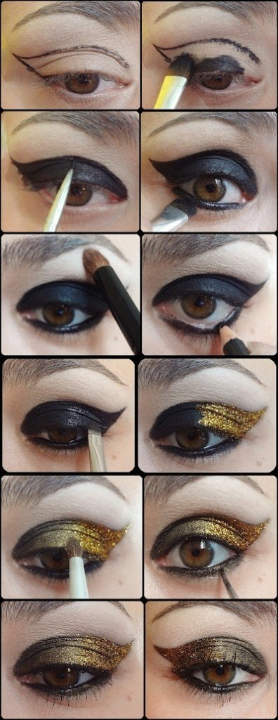 Purple And Gold Smokey Eye Makeup 25 Easy And Dramatic Smokey Eye Tutorials This Season