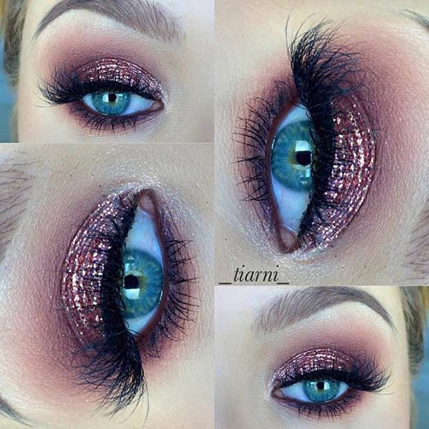 Purple And Gold Smokey Eye Makeup 31 Eye Makeup Ideas For Blue Eyes Stayglam Page 3